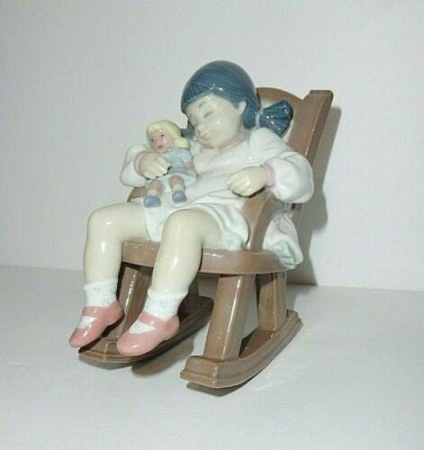 Lladro Figurine 5448 Naptime  Girl in Rocking Chair