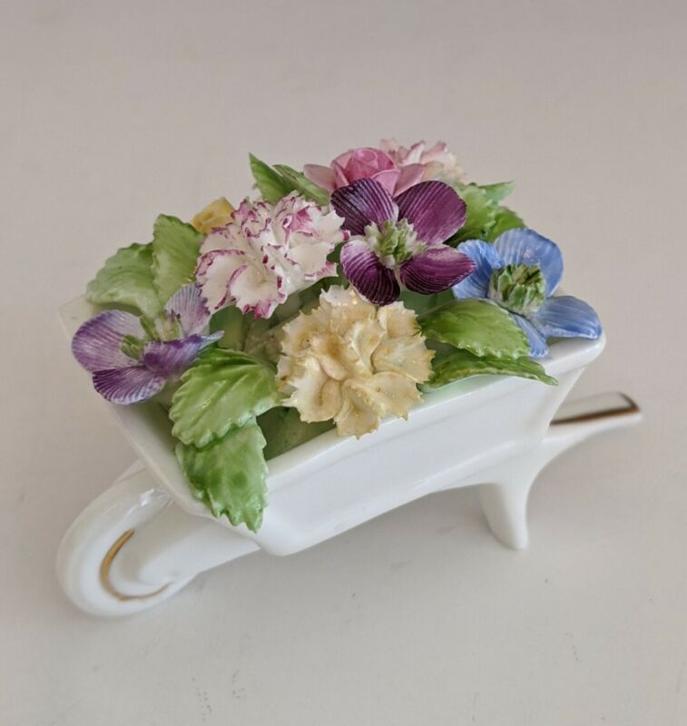 ROYAL ADDERLEY FLORAL BONE CHINA -MADE IN ENGLAND PORCELAIN FLOWER BOUQUET