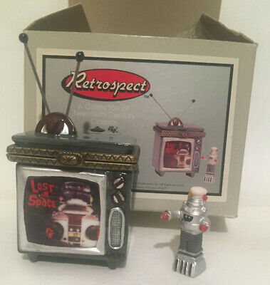 Lost in Space Retrospect Television Miniature Box W/ Tiny Robot B-9 TV PHB 1999
