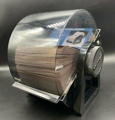 Rolodex Classic Rotary File Black 400-card Capacity Rbc400