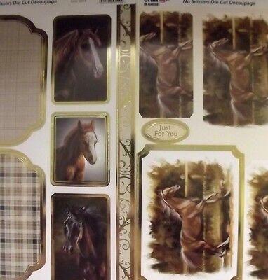 Craft UK Horses / Horse Die Cut Toppers & Decoupage - various designs