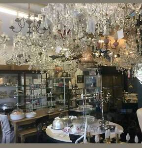 I BUY VINTAGE CHANDELIER ART DECO LIGHTS WALL ANTIQUES Marrickville Marrickville Area Preview