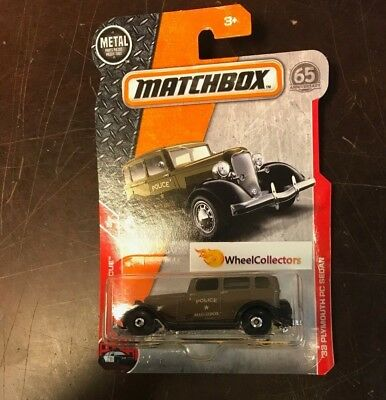 '33 Plymouth PC Sedan * Brown * 2018 Matchbox Case D