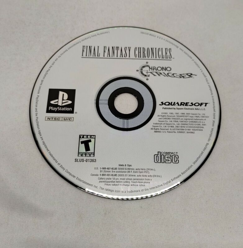Final Fantasy Chronicles Chrono Trigger Disc ONLY Playstation One PS1 -TESTED
