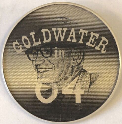 Vintage Barry Goldwater Republican Presidential Campaign Holographic Pin Button