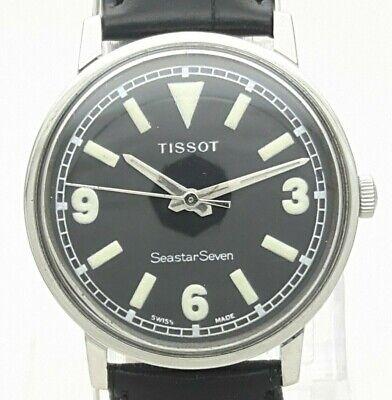 Vintage Tissot Seastar Seven Military Style 17J Hand Winding 781-1 Swiss Watch