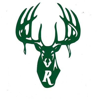 "Remington Logo High Gloss Green Vinyl Die Cut Gun Sticker 5"""