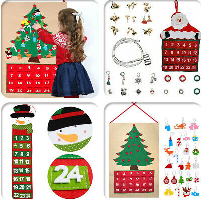 DIY Christmas Tree Advent Calendar Countdown Xmas Gifts for Kids Fabric Felt ()