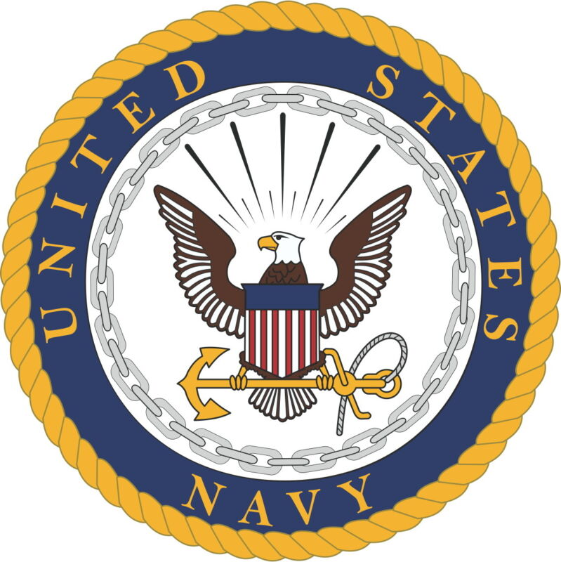 Large US Navy Logo Vinyl Sticker Decal 4 Pieces