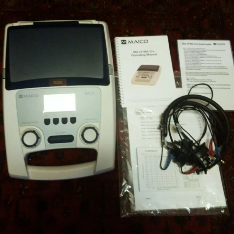 Maico MA27 Portable Audiometer with Headphones, calibrated 2020