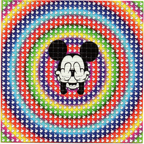 MlCKEY-Finger BLOTTER ART perforated sheet paper psychedelic art