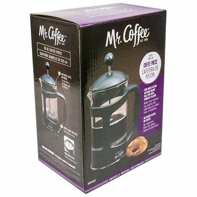 MR COFFEE 28 oz FRENCH COFFEE PRESS (Fine Mesh Filter & Bonus Scoop) Dishwasher Safe Mesh Filters