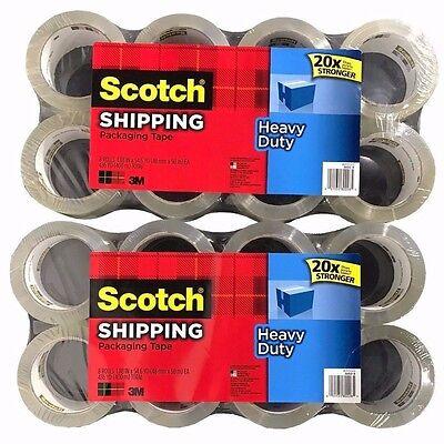 16 Rolls Scotch 3m Heavy Duty Shipping Packaging Tape 1.88in X 54.6yd