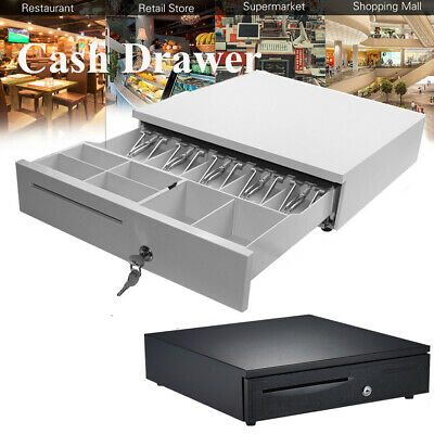 5 Bill 6 Coin Cash Register Drawer Box Works Compatible Tray Pos Printers I4m8
