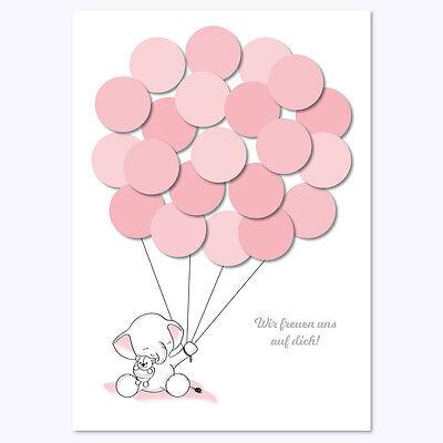 Babyparty, Baby Shower, Deko, Baby Andenken, Elefant, mädchen, rosa