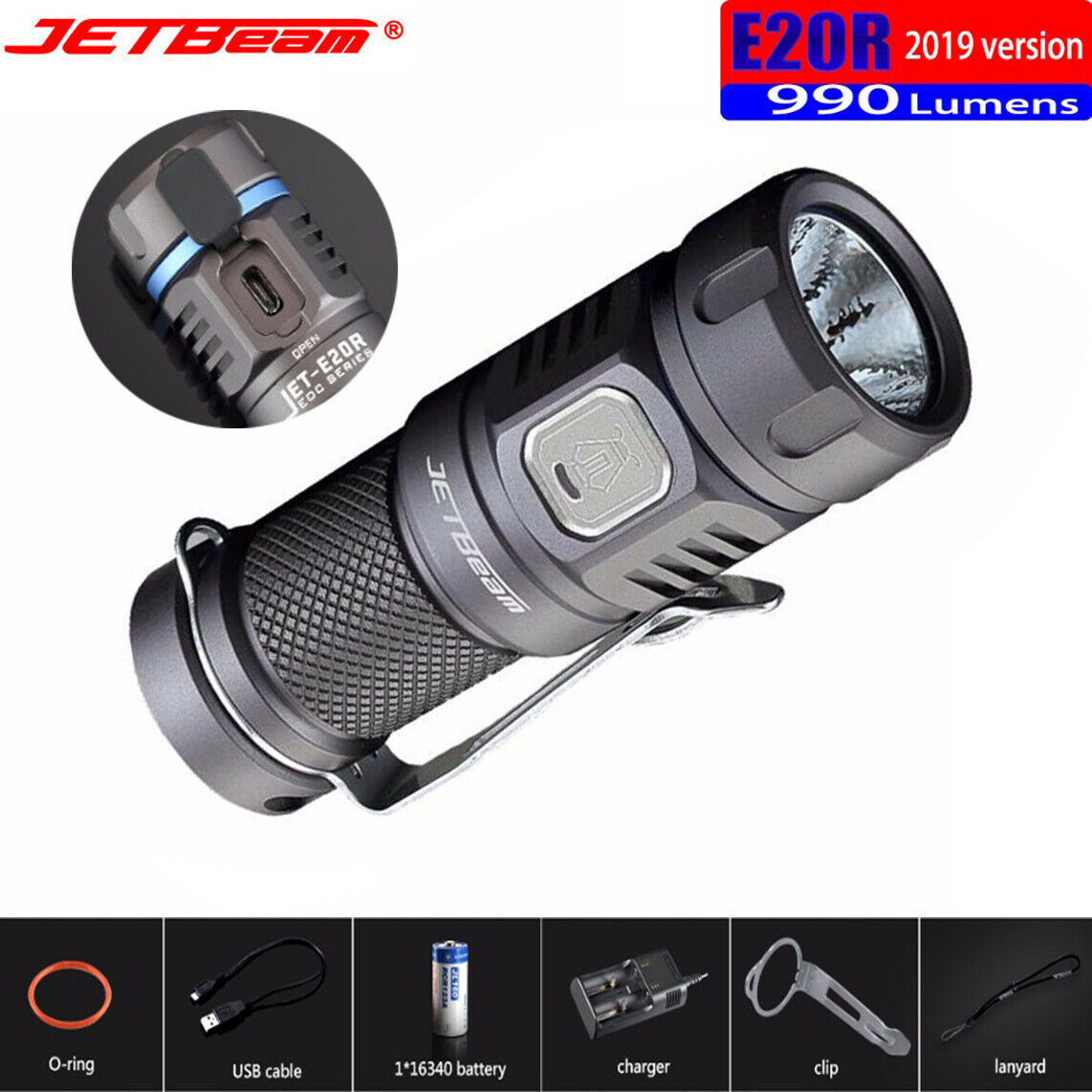 JETBeam 990 Lumens Flashlight