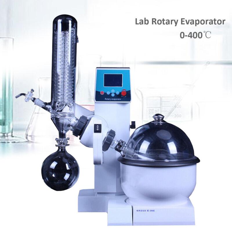Lab Rotary Evaporator Rotavapor 0-400℃ w/Motor Lift Digital Heating Bath 50HZ