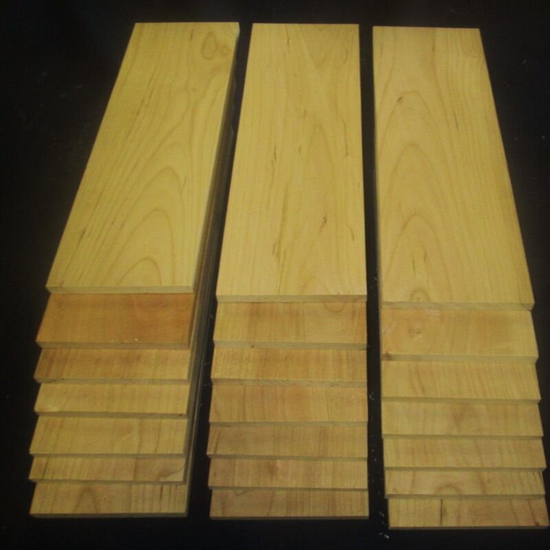 """24 pieces 3/8"""" x 4"""" x 12"""" Cherry thin boards lumber"""