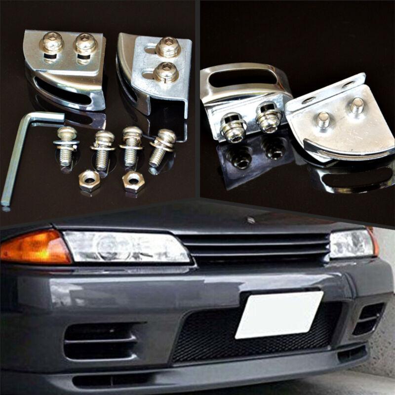 Car Angle Adjustable Bumper License Plate Frame Mount Relocator Holder Bracket