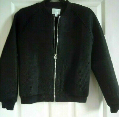 JOVONNA London Ladies Mesh Bomber Jacket Lined Black Size 10