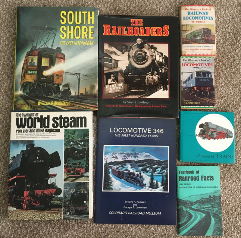 Lot of Train Railoroad books Locomotive 346 South Shore World Steam etc