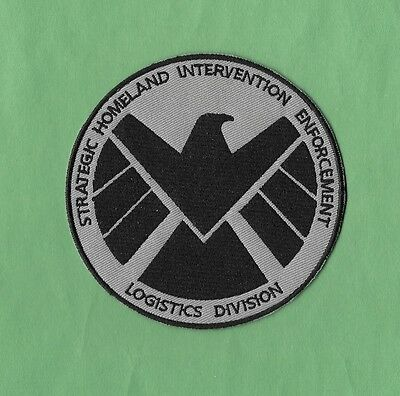 """4"""" Avengers Movie AGENTS OF SHIELD S.H.I.E.L.D Nick Fury Iron-on Logo PATCH!"""