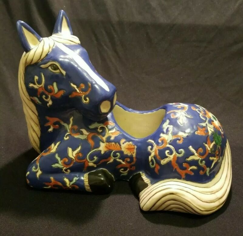 Antique Chinese Horse Planter, Import ,10""