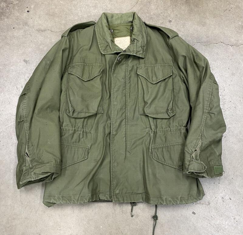 Vintage 1970 M-65 US Army Field Jacket W/ Liner OG-106 Size Medium