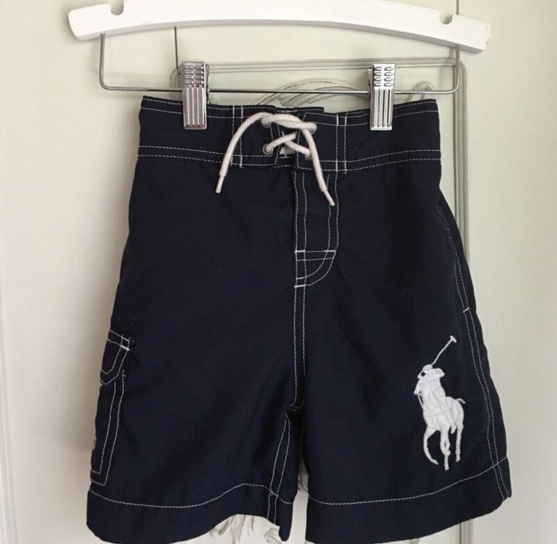Polo by Ralph Lauren boys navy blue swim trunks 2T NWOT kids Swim Wear Summer