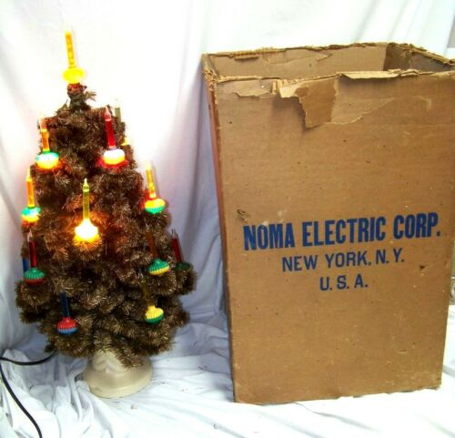 "Vintage 18 Light Noma Christmas Bubble Tree #504 28"" with stand & box"