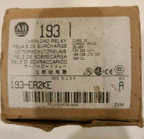 Allen Bradley 193-EA2KE Overload Relay 26-85A - New In Box