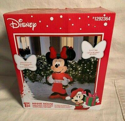 Disney MINNIE MOUSE Season Magic Christmas INFLATABLE Airblown YARD DECOR 3.5'