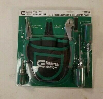 Commercial Electric 7-piece Electricians Tool Set With Pouch Model Ce180608