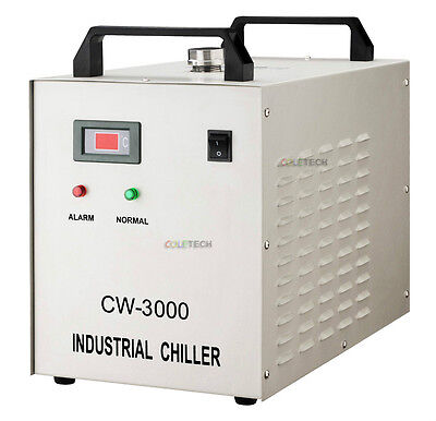 Industrial Water Chiller 1.5 KW CNC spindles 80W CO2 Laser Tube CW3000DG  to US