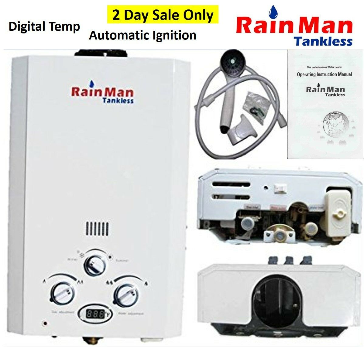 HURRICANE RELIEF - PORTABLE TANKLESS WATER HEATER OUTDOOR SH