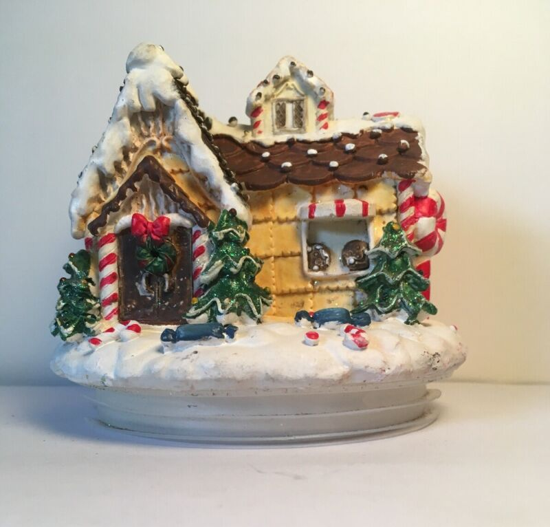 """Christmas gingerbread house cookie jar cannister candy  Candle LID ONLY 3.5"""" top"""