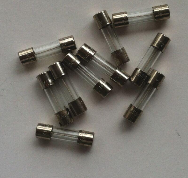 WALTER ELECTRONICS SLOW BLOW 250mA GLASS FUSES (12 PCS)