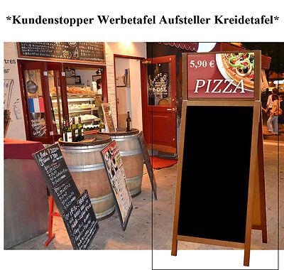 Werbetafel Aufsteller Kundenstopper Holz 160 cm Werbung Kreidetafel Tafel P2B-TZ