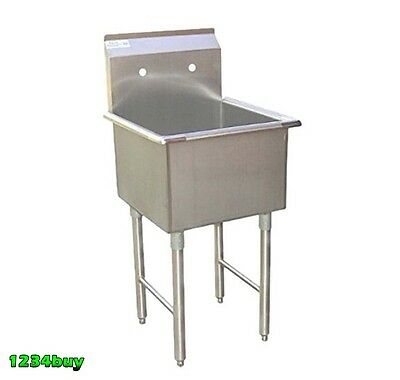 18 Gauge 1 Compartment 15x 15stainless Steel Prep Sink Etl Approved Se15151p