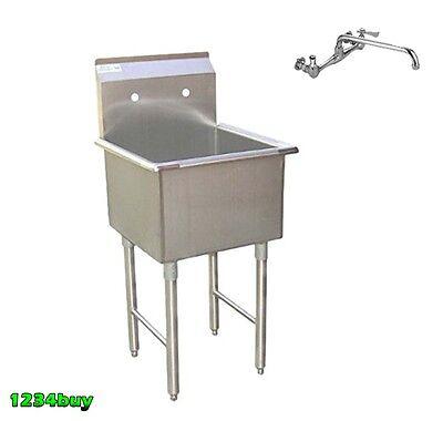 Combo1 Prep Sink Stainless Steel 15x15 W 6spout Faucet Etl Se15151p Aa-706g