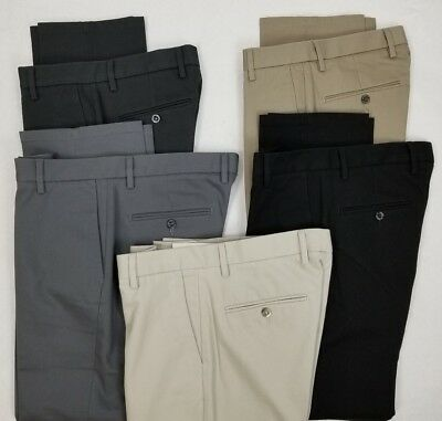 Dockers Mens The Best Pressed Signature Khaki Slim Fit Flat Front Pants