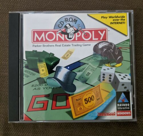 Computer Games - MONOPOLY by Hasbro Interactive (1997,  PC Computer CD-ROM Disc) Video Game