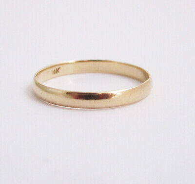 14K Y Gold Mens Wedding Band Ring sz 9 Gents 3mm Antique Estate Scrap / Not 1.4g 14k Gents Wedding Band