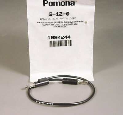 Pomona B-12-0 12 Long Patch Cord Stackable Male Female Banana Plugs Test Leads