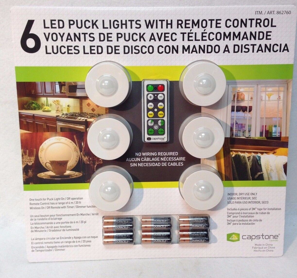Capstone Lighting - 6 LED Puck Lights With Remote Control - New In Package  sc 1 st  Garden Buy Mall & Capstone Lighting - 6 LED Puck Lights With Remote Control - New In ...