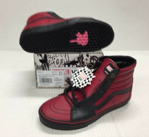 4fb2983f0be VANS SK8-HI MARVEL DEADPOOL  VN0A38GEUBJ LIMITED EDITION LEATHER DEADPOOL   BLACK