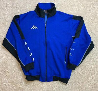 VTG Kappa Men's Tape Logo Long Sleeve Full Zip Track Jacket Size Large RARE