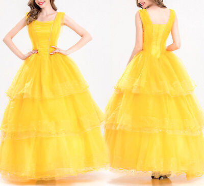 Bella Und die Bestie Karnevalkleid Frau Beauty & The Beast schön Kleid -