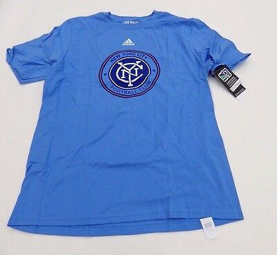 Adidas Youth XL New York City Football Club Major League Soccer Shirt Blue NWT