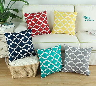 CaliTime Cushion Cover Pillows Shell Home Car Decor Quatrefo
